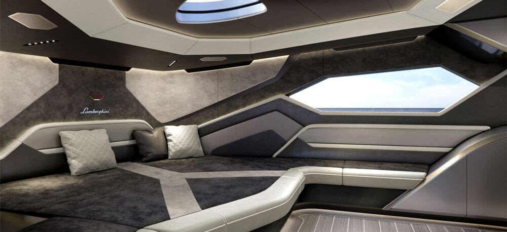 Tecnomar by Lamborghini 63 sports yacht master bedroom