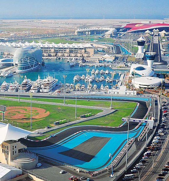 The Yas Marina Circuit in Abu Dhabi