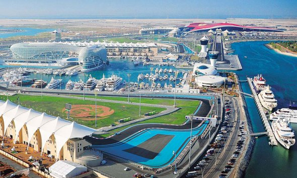 The Yas Marina Circuit in Abu Dhabi