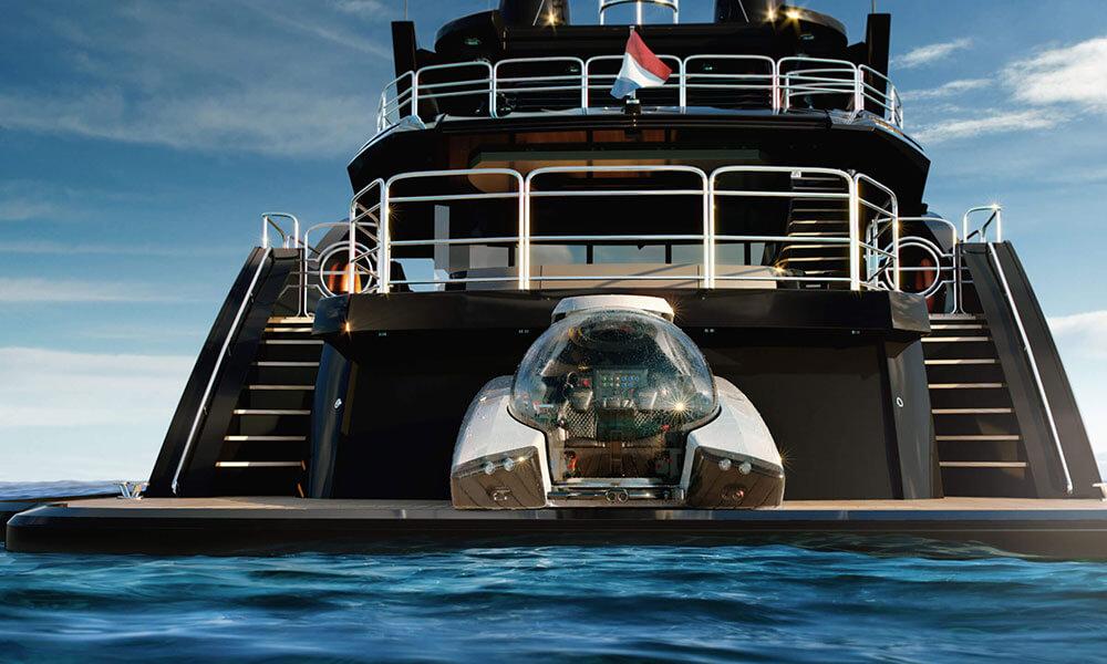 U-Boat Worx Nemo Personal Submarine on a yacht