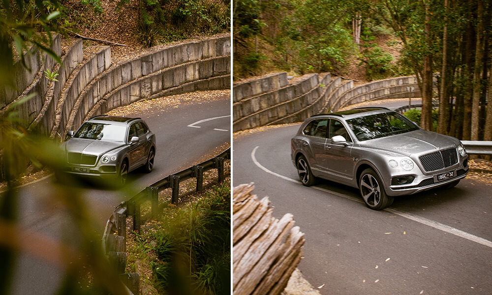 V8 Bentley Bentayga tested on hills
