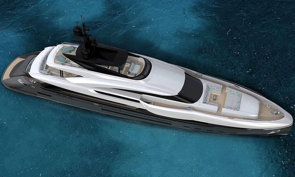 Rossinavi M/Y Vector 50 designed by Enrico Gobbi - Team For Design - top view