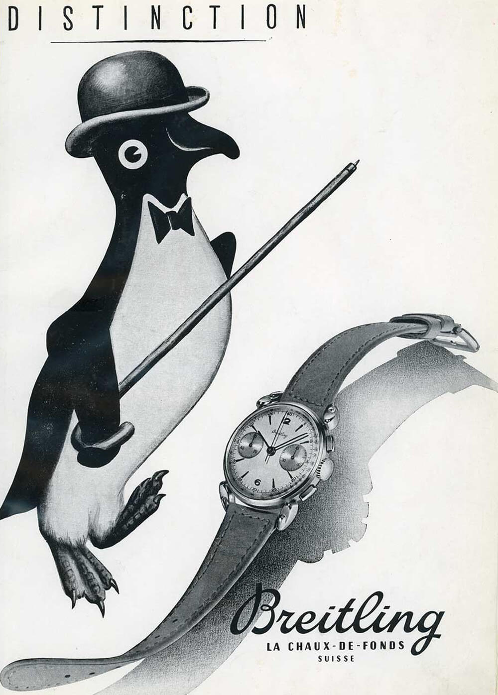 Vintage Breitling Advertising Poster