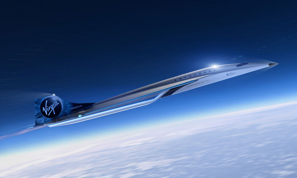 Virgin Galactic Mach 3 Super Jet Rolls Royce Left Side Profile
