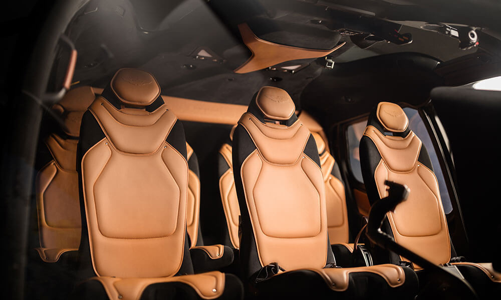 Airbus ACH130 Aston Martin Edition leather seats
