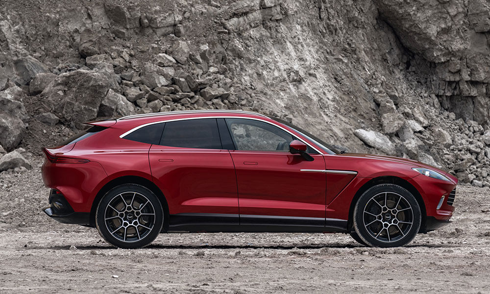 Side view of the 2020 Aston Martin DBX SUV