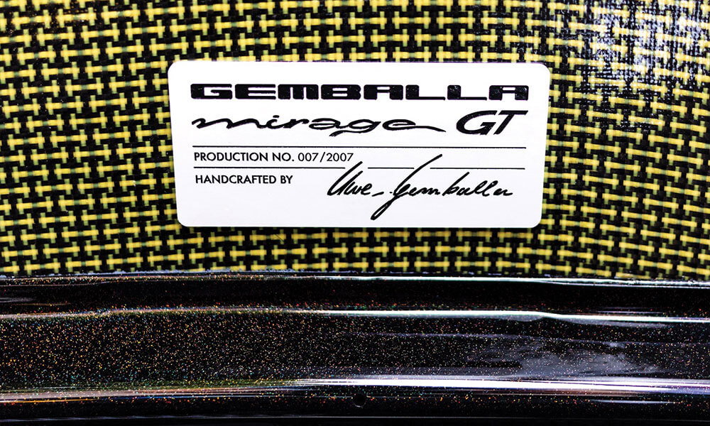 Gemballa gold edition mirage gt production plate
