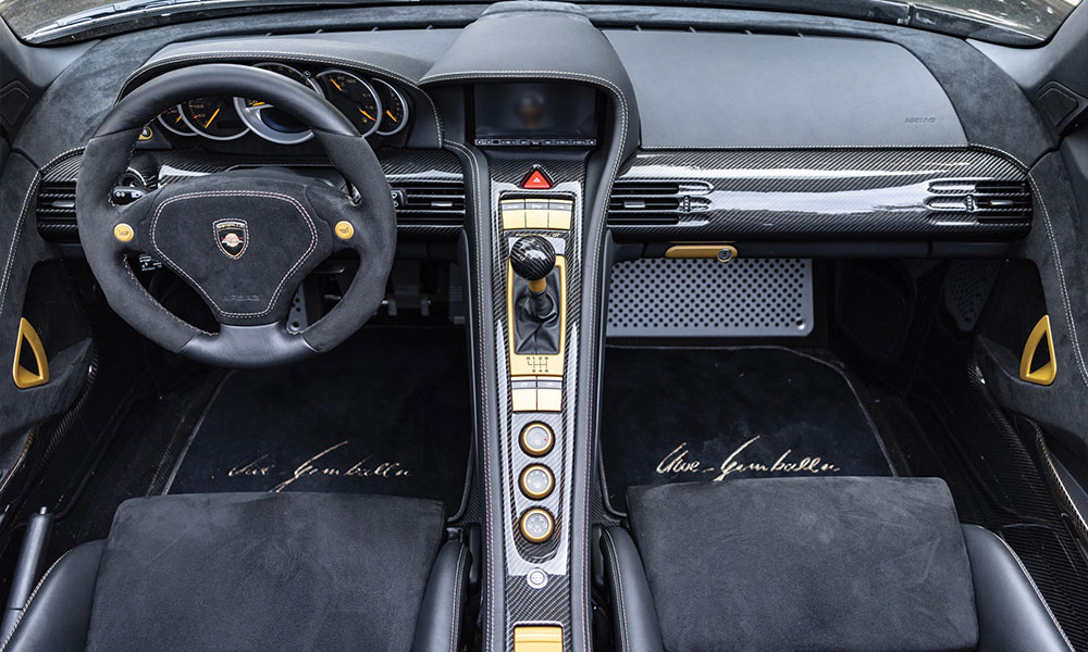 Gemballa gold edition mirage gt interior