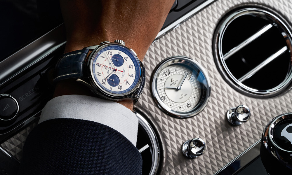 When your wrist watch matches the dashboard of your car. Credit: Breitling