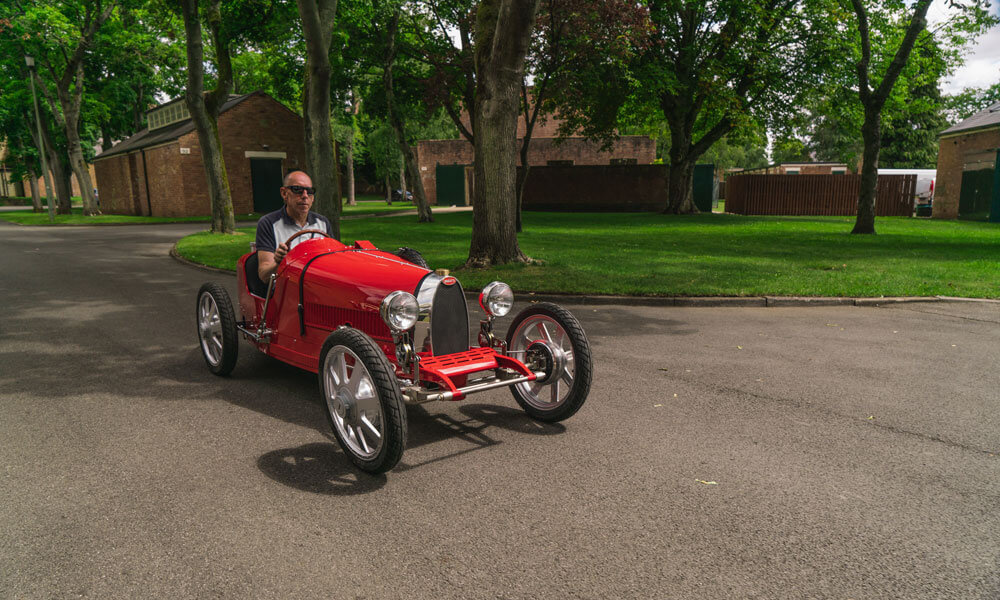 Bugatti Baby II with Andy Wallace Test Driving