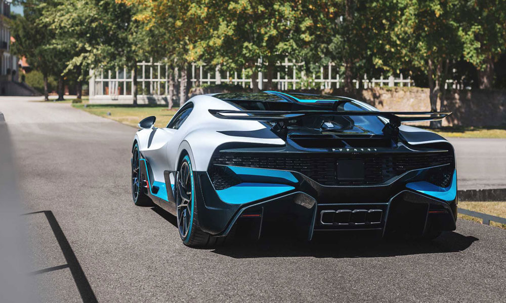 Bugatti Divo Rear Left View French Grey