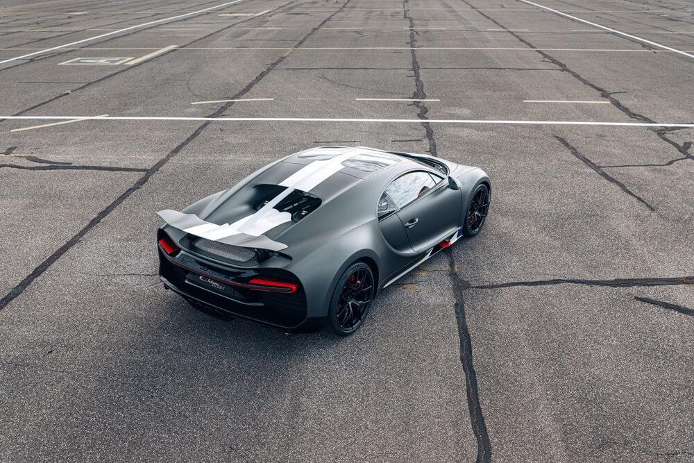 Bugatti Chiron Sport Legendes Du Ciel Aerial Side Rear
