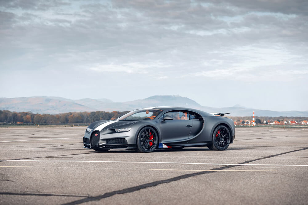 "The new aviation-inspired Bugatti Chiron Sport ""Les Legends du Ciel"". Credit: Bugatti"