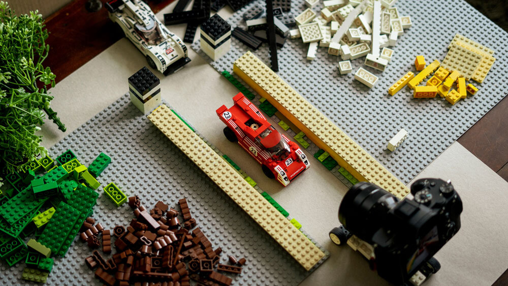 Setting up for a Lego version of Goodwood Festival of Speed. Credit: Dominic Fraser