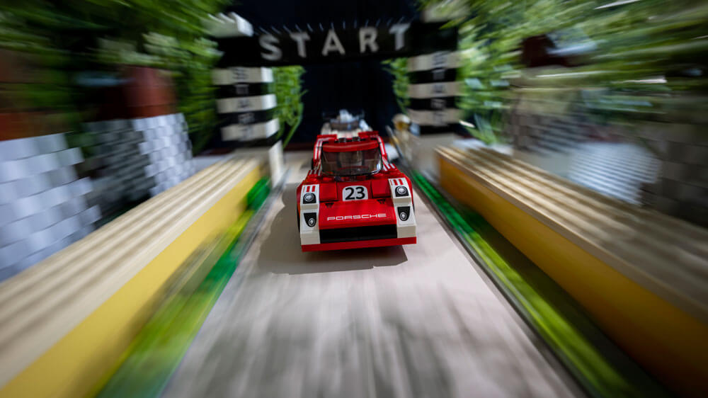 Goodwood Porsche 940 Lego recreation shot by automotive photographer Dominic Fraser