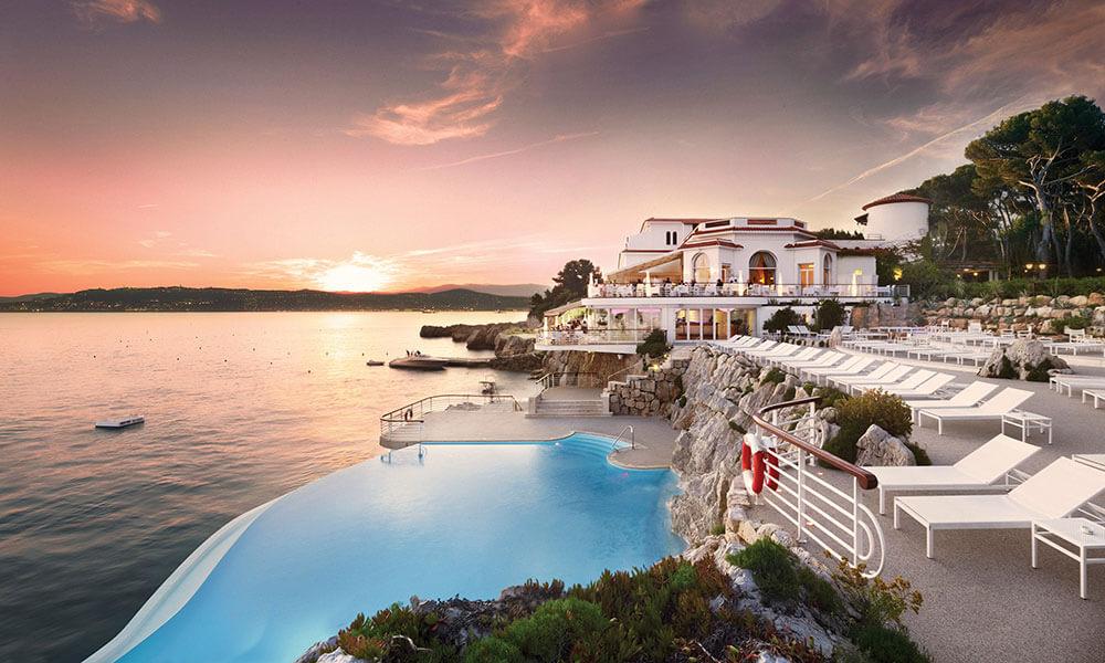 Hotel du Cap-Eden-Roc at sunset