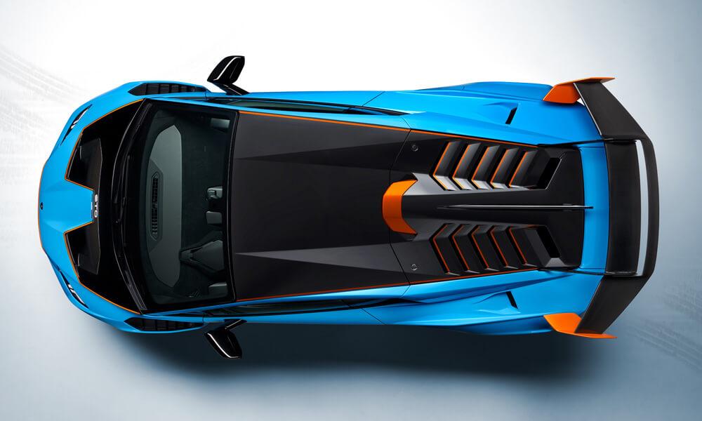 Lamborghini Huracan STO Aerial View