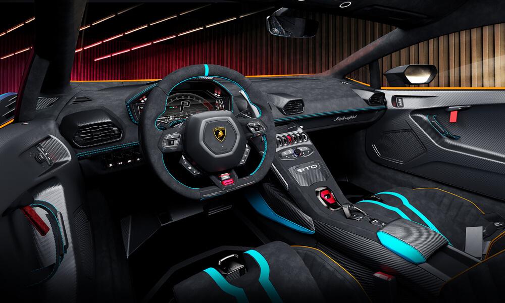The Lamborghini Huracán STO's default driving mode is STO. Credit: Lamborghini