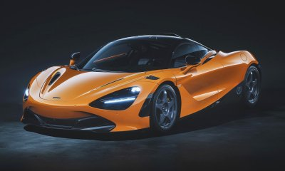 McLaren 720S Le Mans Edition in Orange Side Rear Profile Featured