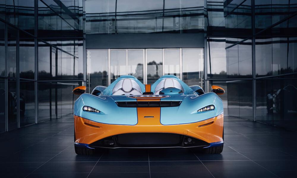 McLaren Elva Gulf Theme Front View