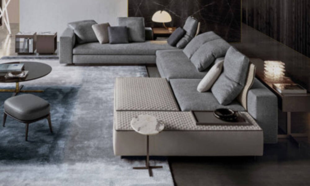 A sample of the Minotti For Dynamiq package