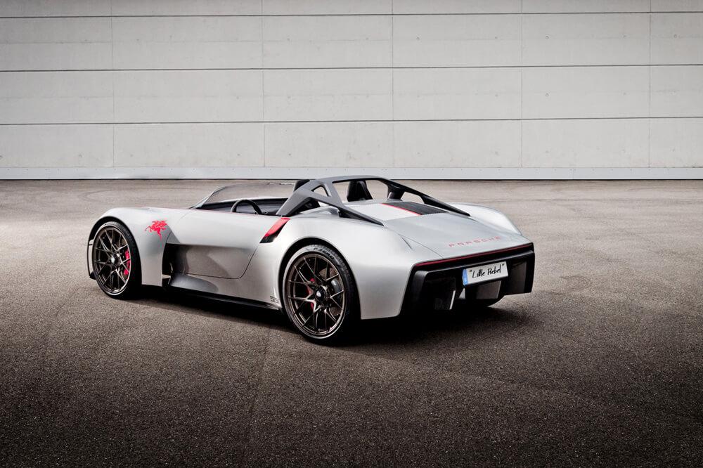 Futuristic roll-bar design may appear in future designs. Credit: Porsche