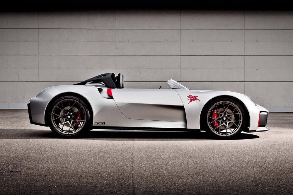 Porsche Unseen Rare Concept Cars 551 Street Vision Spyder Side View