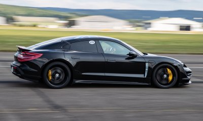 2019 porsche taycan conducts tests at lahr airfield