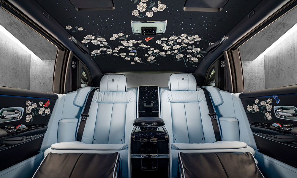 Rolls-Royce Million Stitch Rose Phantom Interior