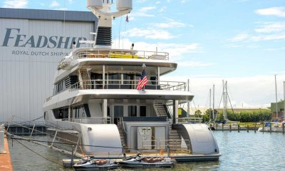 Aft view of Superyacht W built by Feadship