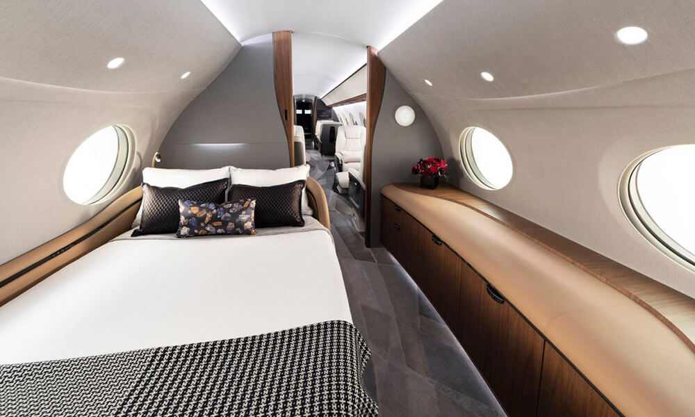 The Gulfstream G700 sleeping